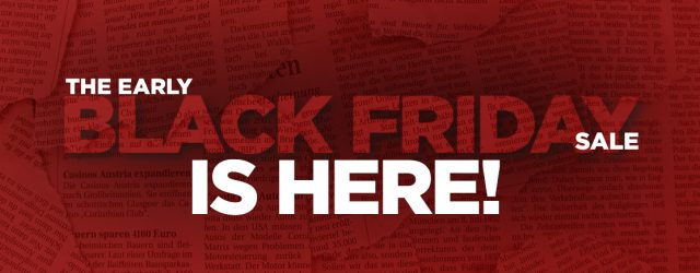 The Early Black Friday Sale Is Here