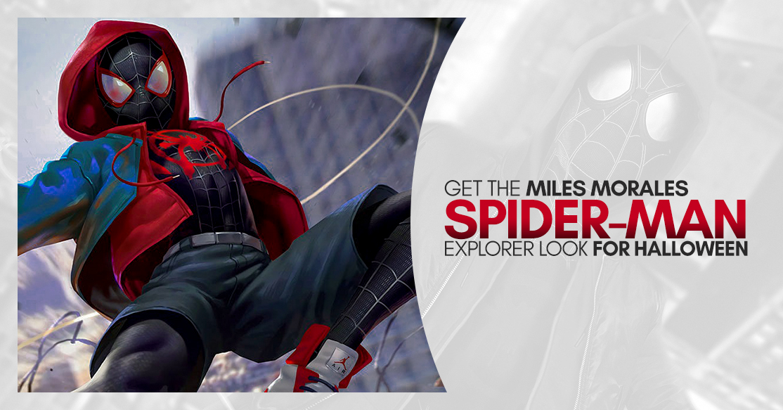 Get the Miles Morales Spider-man Explorer look for Halloween