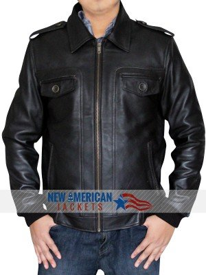 Captain American Steve Rogers brown Locomotive Jacket