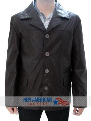 Jack Bauer brown Leather Jacket
