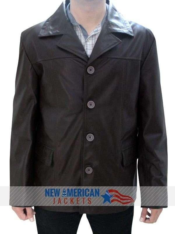 Jack Bauer brown Leather Jacket