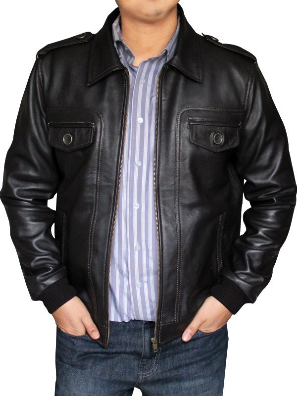 Steve Rogers Locomotive Brown leather Jacket