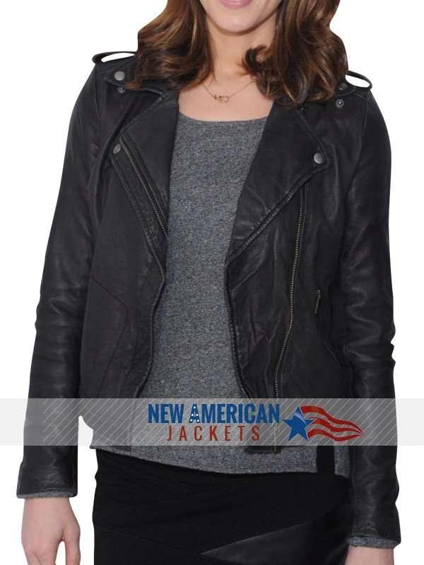 Tv Series NYC Ashley Greene leather Jacket