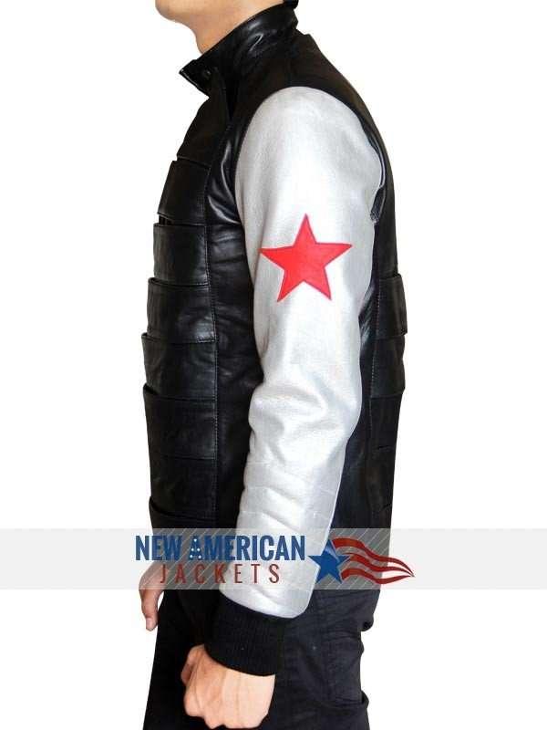 Bucky Barnes Jacket Silver Armor