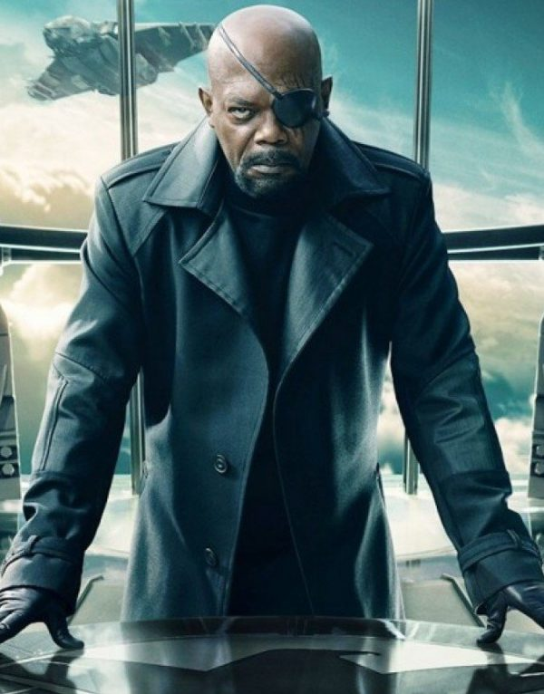 Captain America The Winter Soldier Nick Fury Trench Coat