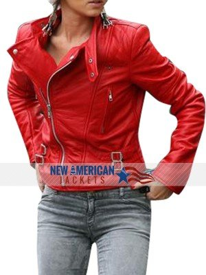 Cheryl Cole Santa Claus Inspired leather Jacket