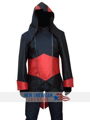 Assassins Creed 3 Black & Red Leather Jacket