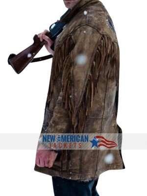Distressed Eric Bana Addison Deadfall leather Jacket