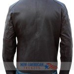 Distressed Lockout Snow Real Leather Jacket