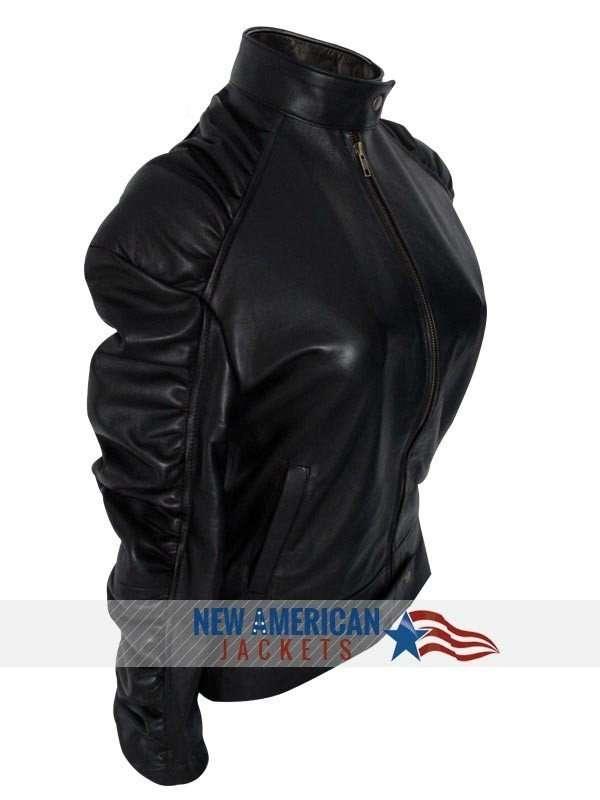ELENA GILBERT leather  JACKET