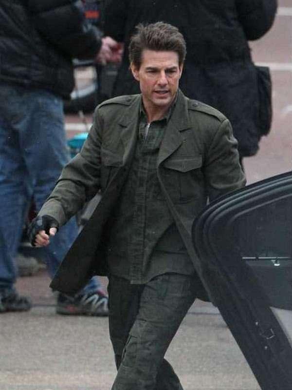 Edge of Tomorrow Tom Cruise Military Green Jacket