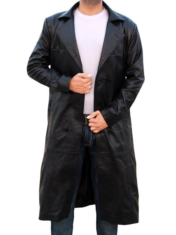 Eric Draven Long Leather Jacket