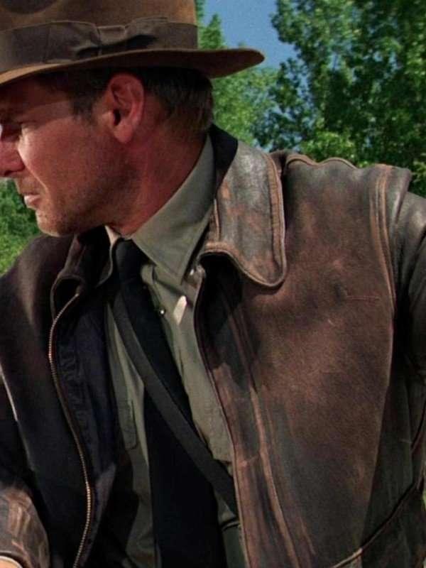 Harrison Ford Brown Leather Jacket Jacket