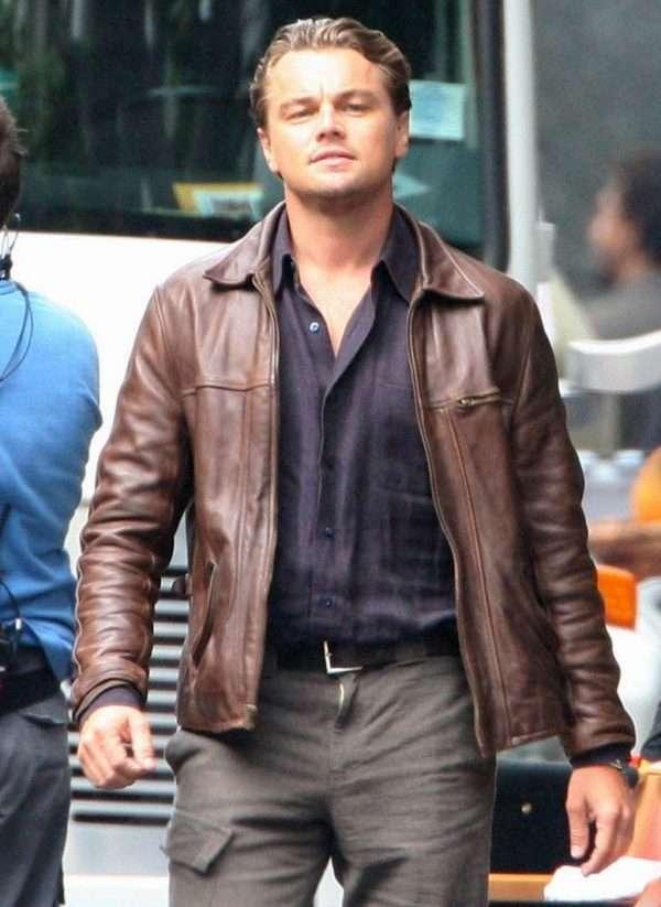 Inception Cobb Leonardo DiCaprio Leather Jacket
