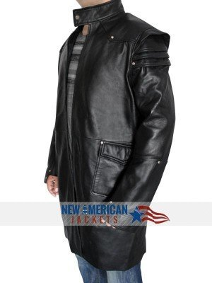 Jeremy Runner Leather Coat