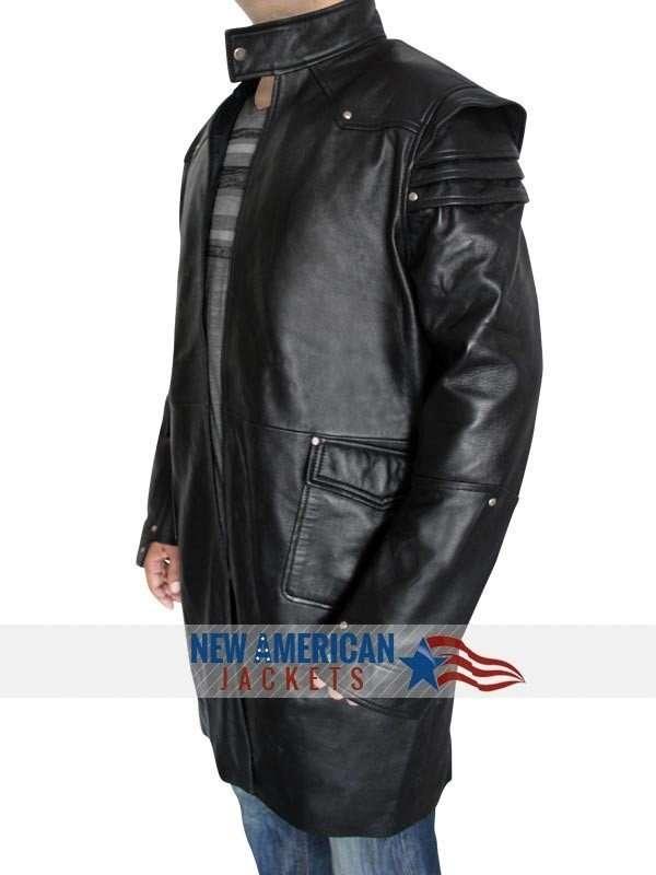 Jeremy Runner Leather Coat
