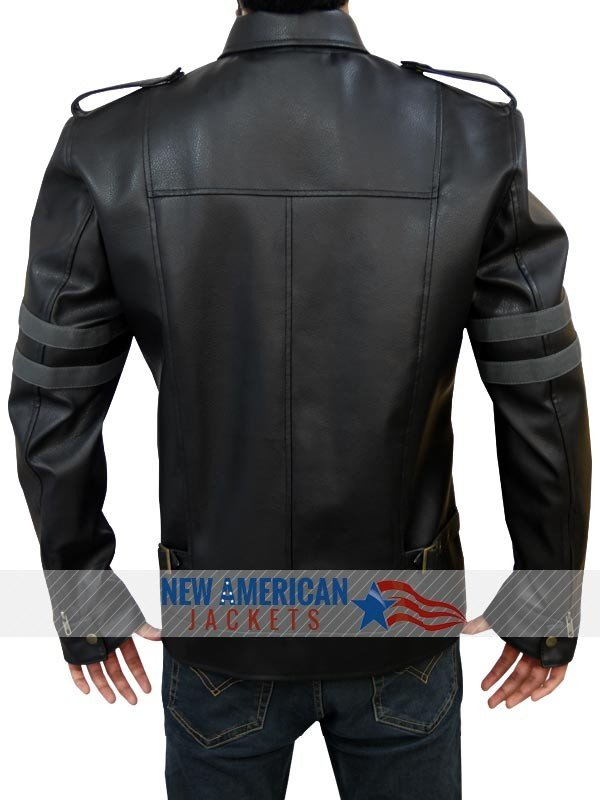Resident Evil 6 Leon Kennedy Black Leather Jacket