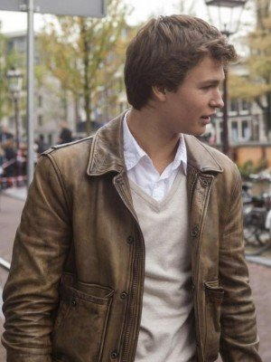 The Fault in Our Stars Ansel Elgort Leather Jacket