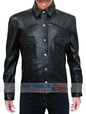 Black Leather Jacket Walking Dead