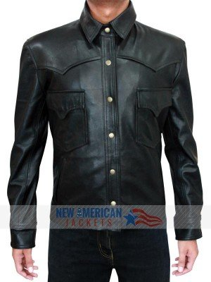 Black Leather Jacket Walking Dead