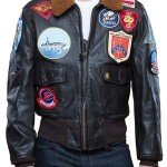 Tom Cruise Top Gun Brown Leather Jacket