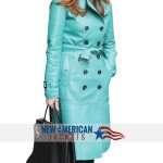 Torquise Coat Dana Delany Coat blue jacket