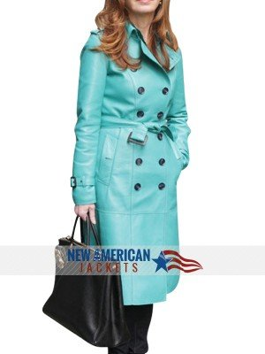 Torquise Coat Dana Delany Coat blue jacket