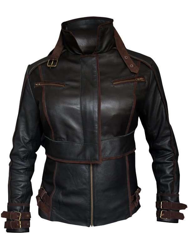 Jessica biel leather jacket