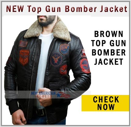 Tom Cruise Top Gun Bomber Leather Jacket