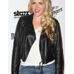 BUSY PHILIPPS STRANGERS LEATHER JACKET