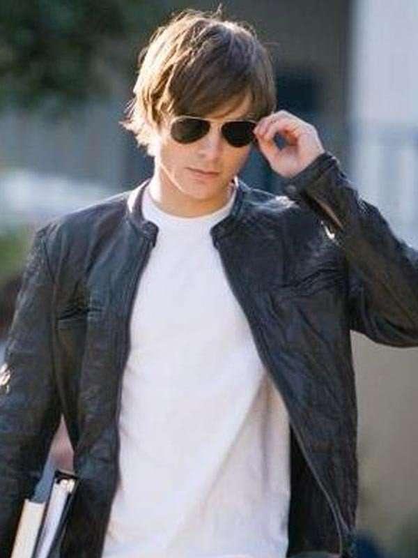 Zac_Efron_17_Again_Oblow_Moto_Leather_Jacket · black,leather,jacket,Zac, Efron · 17_Again_Zac_Efron_Jacket