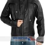Galaxy Leather Jacket Black