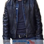 New If I Stay Jamie Blackley black leather Jacket