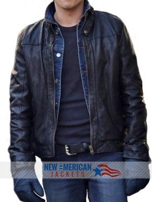 New If I Stay Jamie Blackley black leather Jacket