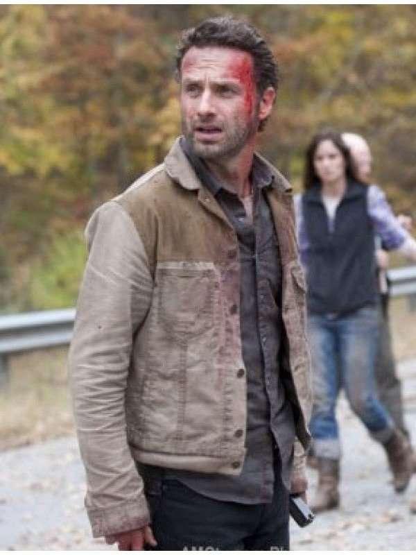 Rick Grimes Walking Dead Jacket Denim Jacket