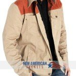 The Walking Dead Rick Grimes Denim Leather Jacket