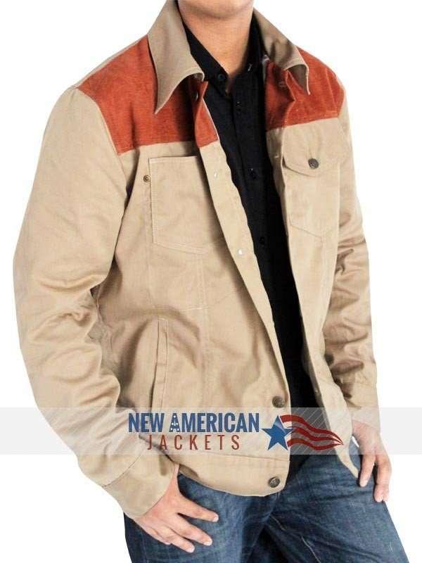 The Walking Dead Rick Grimes Denim Leather Jacket