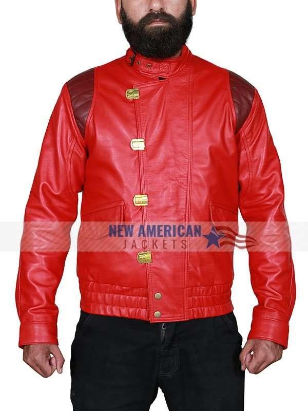 Akira Kaneda Red Leather Jacket