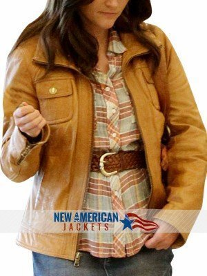 Reese Witherspoon The Good Lie leather jacket Outfit