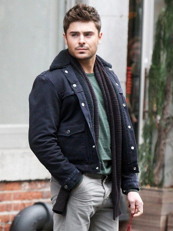 Zac Efron That Awkward Moment Black Cotton Jacket