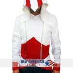 Assassins Creed White Fabric Jacket for men