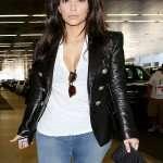 Kim Kardashian Paris Jacket real Leather