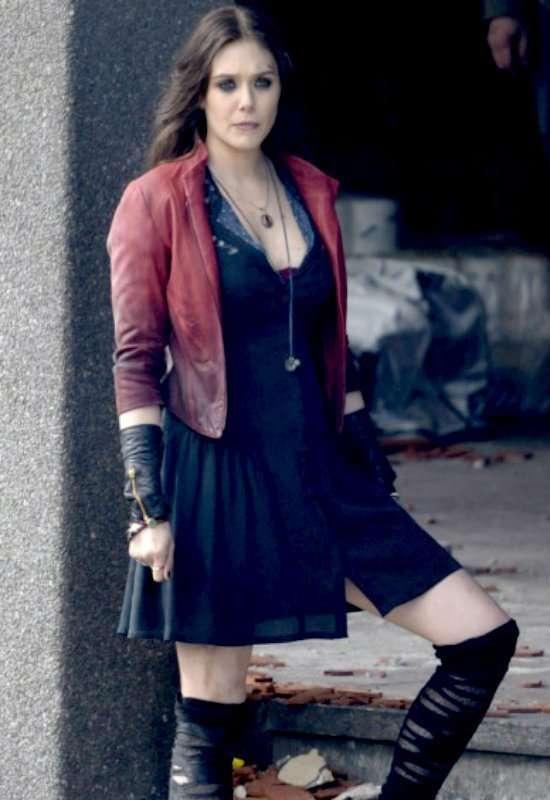 The Avengers 2 Elizabeth Olsen Scarlet Witch Jacket