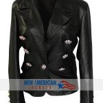real Leather Kim Kardashian Paris Jacket