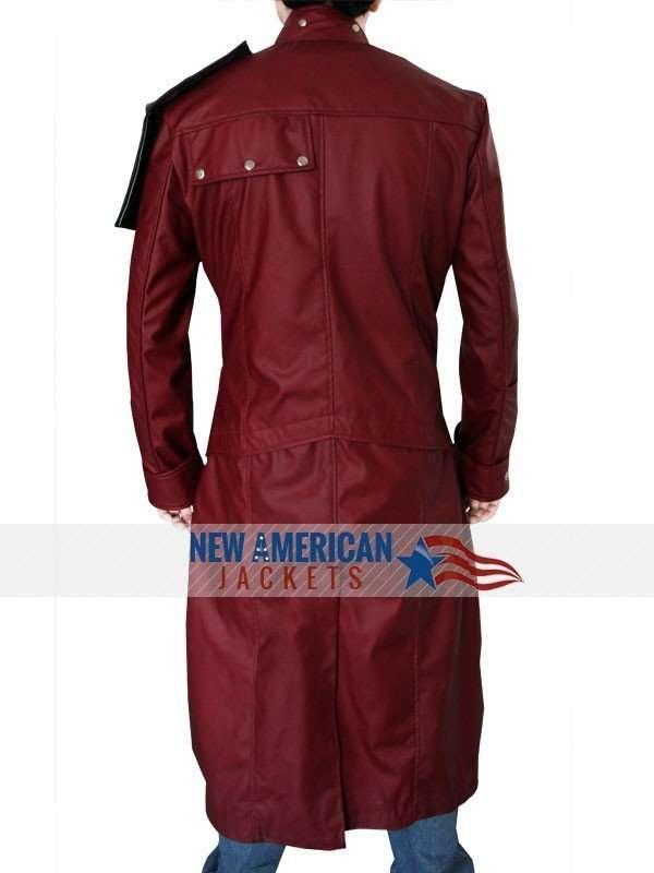 Chris Pratt Star Lord Guardian of the Galaxy Trench Coat