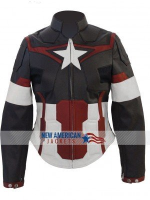 AVENGERS AGE OF ULTRON CHRIS EVANS CAPTAIN AMERICA JACKET