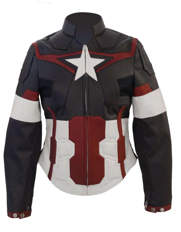 Captain America Jacket For Women Avengers Age Of Ultron