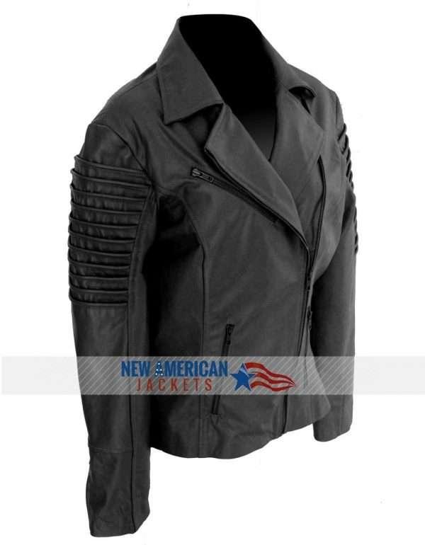 Ladies Women biker leather jacket