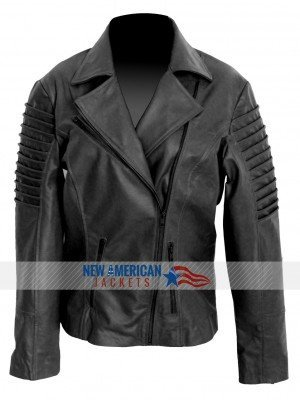 Ladies Women Biker jacket