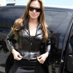Angelina Jolie Black Leather Jacket